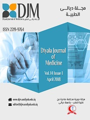 Diyala Journal of Medicine the volume 14, Issue 1 for the month of April  2018.